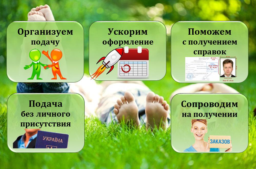 вклеивание фотографии в украинский паспорт